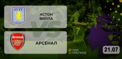 Астон Вилла – Арсенал: прогноз на матч 21.07.2020